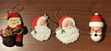 Set of 4 Santa Claus Vintage Christmas Ornaments
