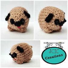 Handmade Collectable Crochet Dog Pug Pup Puppy Gift  - Needs Loving Home