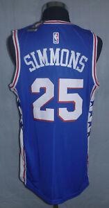 Ben Simmons NBA Authentics Swingman Philadelphia 76ers Jersey Men's Size (50) L