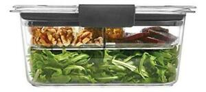 Rubbermaid Brilliance Food Storage Salad Container, Medium Deep, 4.7 Cup, Clear