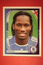 PANINI CHAMPIONS LEAGUE 2007/08 N. 142 DROGBA CHELSEA WITH BLACK BACK MINT!!