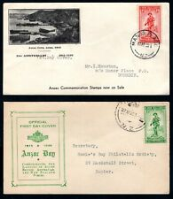 New Zealand - 1936 Anzac Day on 2 x First Day Cover