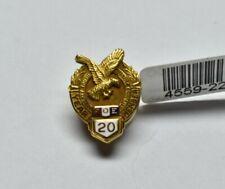 Antique BUILDERS FOE Fraternal Order Eagles Pin Solid 10K Yellow Gold & Enamel
