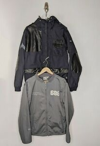 686 Archetype Insulated Snowboard Outershell 2 in 1 Jacket Size Medium Ski Black