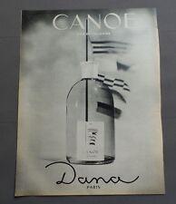 PUB PUBLICITE ANCIENNE ADVERT CLIPPING 010817 / EAU DE COLOGNE CANOE DANA PARIS