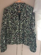 EUC Free People Light Bomber Mint Jacket Oversized XS S M $128 Lined Floral