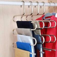 Multi-functional Hanger Stainless Steel Multi-layer S-Type Trouser Rack