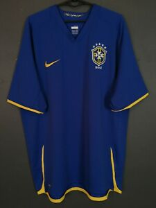 MEN'S NIKE BRAZIL BRASIL NATIONAL 2008/2009 FOOTBALL SOCCER SHIRT JERSEY SIZE XL