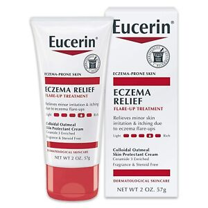 Eucerin Eczema Relief Flare Up Treatment Creme Dry Itchy Skin 57g NEW & SEALED