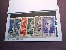 France Stamp Scott#  B303-308  Different People 1956 MNH   C220