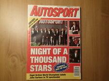 Autosport Magazine-Night of a Thousand Stars-Dario Franchitti-World Champions