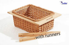 Wicker Basket Pull out Drawer With Handle For Kitchen Cabinet With Beech Runners