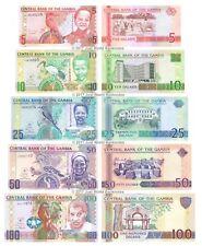 Gambia 5 + 10 + 25 + 50 + 100 Dalasis 2006-13 Set of 5 Banknotes 5 PCS UNC