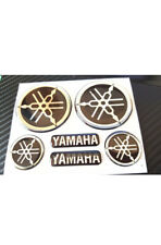 DOMED YAMAHA BIKE ROUNDAL STICKERS DECAL SILVER / BLACK FULL KIT FORKS / TANK
