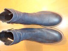 Tamaris Damen Stiefeletten Chelsea Boots Stiefel Schnalle blau Gr.39 -neu-