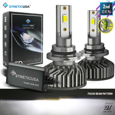 Syneticusa 9006 CSP LED Headlight Bulbs Kit Fog Hi Low Beam Light 6000k White