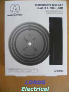 AUDIO TECHNICA AT6181DL STROBOSCOPE DISC & QUARTZ STROBE LIGHT