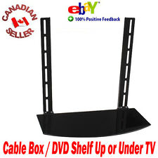 Universal 1 Shelf Glass Wall Mount for Component Digital TV Box Up or Under TV