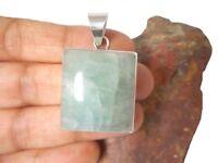 AQUAMARINE   Sterling  Silver  925  Gemstone  PENDANT