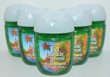 5 BATH & BODY WORKS FALL LAKESIDE BREEZE POCKETBAC ANTI BAC HAND GEL SANITIZER