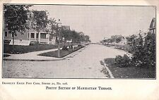 c.1905 Homes Pretty Section Manhattan Terrace NY post card Brooklyn