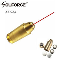 Hunting .45 ACP Red Dot Laser Bore Sight Brass Cartridge Boresighter W/battery