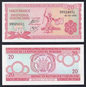 Burundi 20 francs 2005 FDS/UNC  B-02