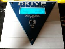 Rare Old School Crunch USA V-150 Car Stereo Amplifier 1 ohm Stable 2 VU Meters