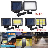 56/100/120 LED Solar Power Motion Outdoor Garden Light Security Flood Wall Lamps