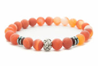 Red Agate Natural Beaded Bracelet Chakra Healing Men Women-DT428