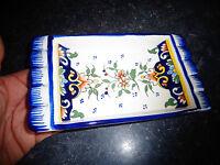 Ancien Beurrier Vide poche Art de la Table Genre Quimper Fait main décor fleuri