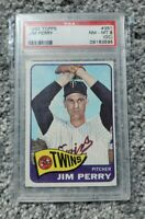1965 Topps JIM PERRY #351 PSA 8 (OC) GRADED NM -MT MinnTWINS INDIANS CY YOUNG ⚾️