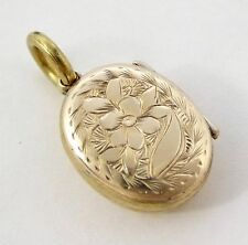 Vintage Front & Back Gold Photo Locket Pendant LAYBY AVAILABLE