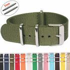 Sangles OTAN NATO G10 couleurs Pure 18 20mm 22mm Nylon Bracelet de montre rayure
