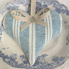 1 SUSIE WATSON TRUE BLUE CAMBRIDGE STRIPE Lavender Filled Fabric Heart