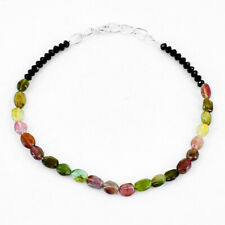 """21.00 Cts Natural 8"""" Long Tourmaline & Spinel Faceted Beads Bracelet NK 02-E71"""