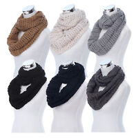 Premium Winter Mesh Knit Infinity Loop Circle Scarf - Different Colors
