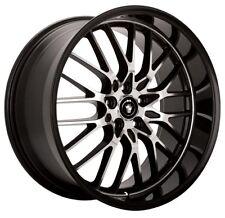 17X8 KONIG LACE 5X114.3 +35 Black Wheels Fits Accord Rsx Tsx Tiburon