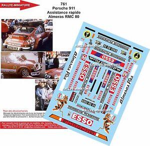 Decals 1/43 Ref 0761 Porsche 911 Assistance Almeras Rally Mounted Carlo 1980