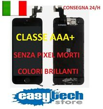 DISPLAY IPHONE 5S ASSEMBLATO COMPLETO -FOTOCAMERA -TASTO HOME- ALTOPARLANTE NERO
