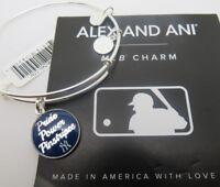 Alex and Ani Shiny Silver Yankees Bracelet Pride Power Pinstripes NWT Retired