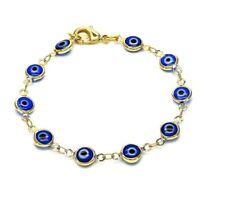 18k Gold Plated Evil Eye Blue Baby Toddler Bracelet Safety Proctetion