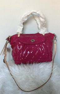 New with Tag Coach Embossed OP ART Patent Leather Tote 13178