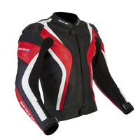 SPADA CURVE JACKET FULL GRAIN RED BLACK LEATHER MOTORCYCLE SPORTS JACKET