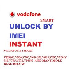 Unlock Vodafone Code Smart mini 7 V300 Ultra 7 V700 N8 VFD 610 VFD310 VFD311