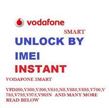 Unlock Vodafone Code Smart mini 7 V300 Ultra 7 V700 N8 VFD 610 VFD310 VFD311
