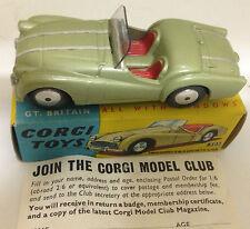 Corgi 305 Triumph TR3 Sports Car - Olive Green with Stripe ~Original & Boxed~