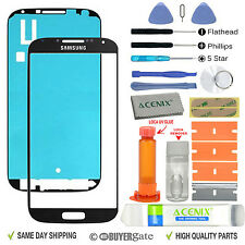 Samsung Galaxy S4 Front Glass Lens Screen Replacement Repair Kit Black UV Glue