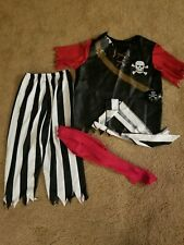 Deluxe Halloween PIRATE COSTUME RUBIES M BOYS Eye Patch CRUISE NIGHT CARIBBEAN