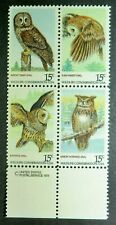 1760-63 MNH 1978 15c American Owls Barred Great Grey Saw-whet Horned Birds owl